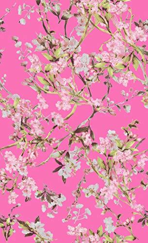 1 Meter Blumenmuster chinesischer Stil Motiv Digitaldruck Designs Druck Ladung für Hochzeitskleid Haute Couture individuelle Abendkleid Mode J50997-X4 Pink (Pink Filmstar Kostüm)