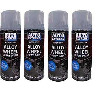 Gun Metal Grey Spray Paint Grey Alloy Wheel Spray Restorer Car Van Auto Paint 200ml (4)