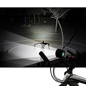 Theoutlettablet® Luz delantera - Foco frontal para Bici hasta 16000 lumenes max Linterna LÁMPLuARA TORCH frontal 13x CREE XM-L 13 x T6 LED de bicicleta /bici lampara LED frontal para manillar de bicicletas (13 focos) con batería, s de cabeza y cargador COLOR NEGROarne
