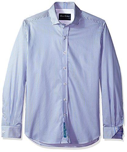 Robert Graham Herren Luther Long Sleeve Slim FIT Shirt Button Down Hemd, Stahl, X-Large (Gestreiften Bengal Hemd)