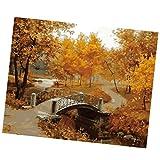Sharplace Malen Nach Zahlen mit Pinsel, Ohne Rahmen, 50 * 40cm, auf Leinwand Bild, Herbst Landschaft Design