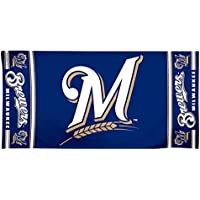 MLB Milwaukee Brewers Design Beach Towel - Navy Blue by WinCraft