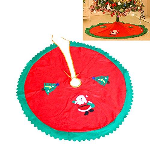 Tinksky decorazione per il buon natale 90cm (rosso)