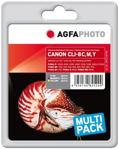 Preisvergleich Produktbild AgfaPhoto APCCLI8TRID Tinte für Canon MP800, 46.5 ml cyan/magenta/gelb