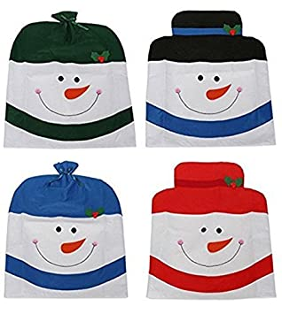 4 X SNOWMAN HAT CHAIR BACK COVERS CHRISTMAS XMAS PARTY TABLE DECORATION GIFT SET Amazoncouk Kitchen Home