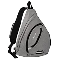 Sling Bag for Boys, PRITEK Crossbody Backpack Ultralight Versatile Chest Daypack Anti-Theft Over Shoulder Travel Rucksack Pack Bag for School Hiking Camping Cycling Men and Women