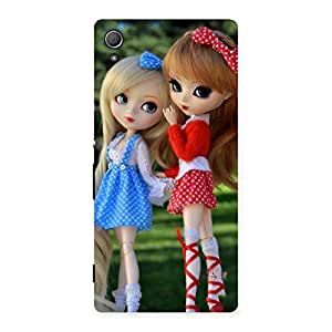 Enticing Sister Doll Multicolor Back Case Cover for Xperia Z3 Plus