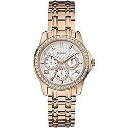 Guess W0403L3 - Reloj de cuarzo para mujer, con correa de acero inoxidable, color dorado