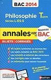 ANNALES BAC 2014 PHILO L-ES-S