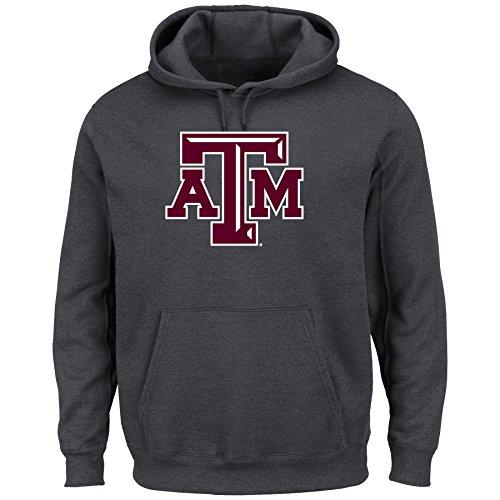 Adult Hooded Fleece (Majestic NCAA Herren Hooded Fleece Pullover Sweatshirt, anthrazit, Herren, anthrazit)