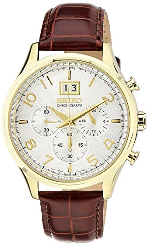 Seiko Dress Chronograph White Dial Men's Watch - SPC088P1