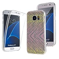 NWNK13Ž Samsung Galaxy S7 Ultra Thin 360- degree Protective Front And Back Complete Transparent Plain / Patterned TPU Gel Case. (CM)