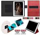reboon Huawei MediaPad M2 10.0 Hülle Tasche Cover Case Bumper | Rot Leder | Testsieger