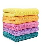 HOLG Mikrofaser-Reinigungstuch / -Tuch, Autowäsche-Polierwachspolitur und Automatisches Detailtuch für Trockenes Tuch,Randomcolor,30Cm*30Cm