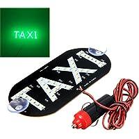 HMOCNV Luz de techo de taxi con 45 ledes, 12 V, con base magnética