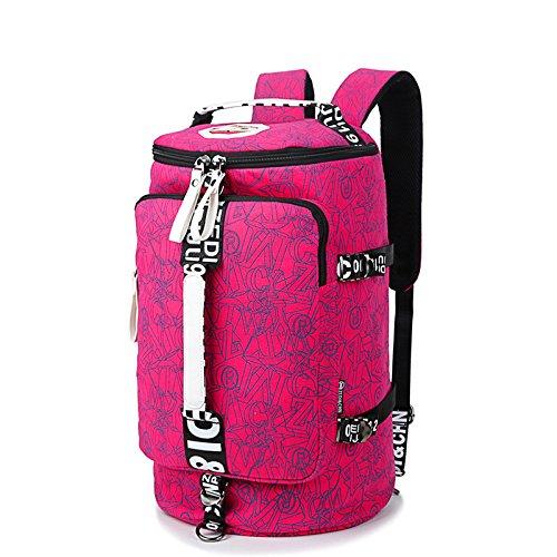TBB-Borse a tracolla in tela di viaggio Tempo libero borse sportive Outdoor borse da viaggio di grande capienza zaino viaggio,D piccolo b Trumpet