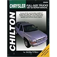 Chilton's Chrysler Full-Size Trucks: 1997-2000 Repair Manual : Covers All U.S. and Canadian Models of Dodge Ram 1500, 2500 and 3500 Pick-Ups, Dakota and Durango; 2 and 4 Wheen Drive; gaso