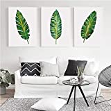 YDGG Leaf Plant Leaf Canvas Painting Art Print Poster Picture Mural Elegant Home Decor-50x70cmx3 pcs no frame