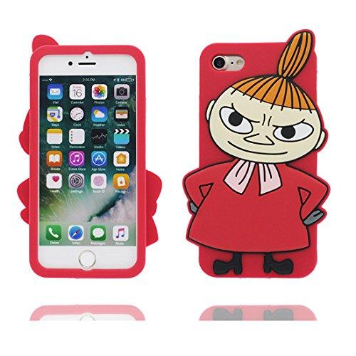iPhone 7 Custodia, Cover iPhone 7 Copertura 4.7, [Cartoon 3D Strega] silicone TPU Shell iPhone 7 Case 4.7 - Girl # 2