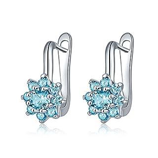 AIUIN Ohrringe Mode Blumen Ohrringe AAAAA-Ebene Zirkon Diamant Anhänger Damen Ohrring für Geburtstag Geschenk Ohrhänger Hängend Neuer Stil 2018 (Blau)