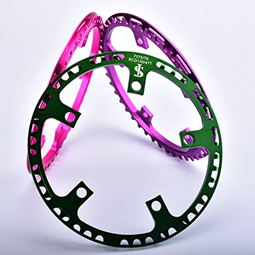 Generic Green 45 T : For DAHON BYA 412 Folding Bike Crankset 45 / 47 T Al 7075 CNC 130 BCD foldable bicycle Chainring 3 colors
