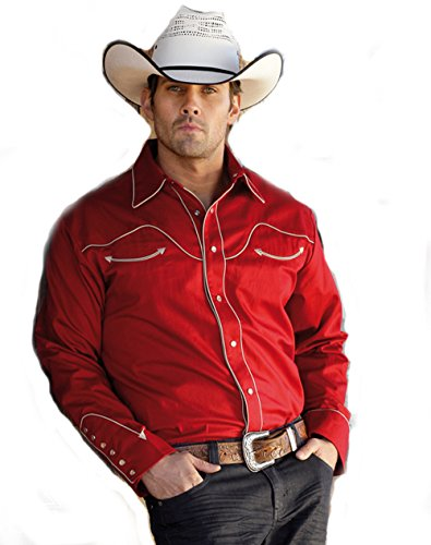 Country Hemd rot Westernhemd Jack Gr. S - Stars & Stripes Western Wild West Line Dance Kleidung (Line Dance Kostüme)