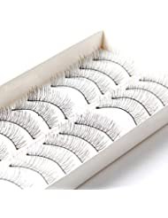 Bluelans® 10 Pairs Cross False Eyelashes Eye Lashes Extension Natural Look