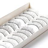 Bluelans® 10 Pairs Cross False Eyelashes Eye Lashes Extension Natural Look