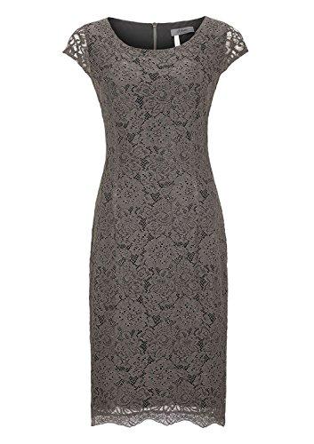 s.Oliver Premium Mit Alloverspitze - Robe - Femme Marron - Braun (taupe love 9605)