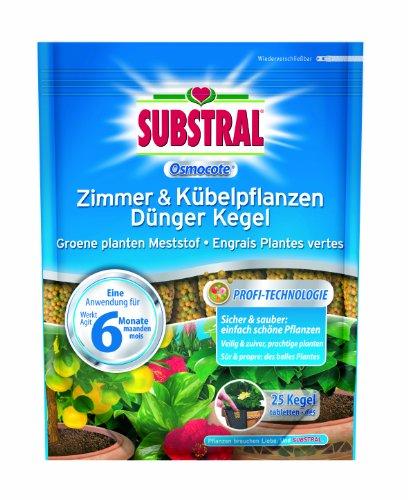 Substral  Osmocote Zimmer & Kübelpflanzen Dünger Kegel - 25 St.