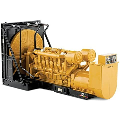 CAT Caterpillar 3516B Engine Generator 3-Piece SET - Set Contains a Cat Engine, Cat SR4B Generator, and Cat EMCPII+ Control Panel 1/25 by Norscot 55100 by Norscot