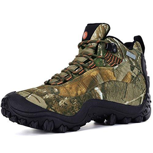 XPETI Scarpe da Trekking Estive, Donna Escursionismo Scarpe Trekking Impermeabili Mid Scarponi Montagna Alpinismo Calzature Femminili Trail Backpacking Camouflage 40