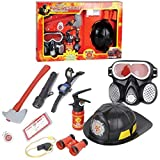 #6: VSHINE Kids pretend Fire Equipment Toy - Fire fighter Toys Play Set, Fancy Dress Cosplay, Role Play Game