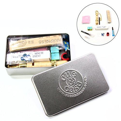 Queue billard et étui Ultimate pencher Kit Cadeau étain-Bleu Diamant 11mm