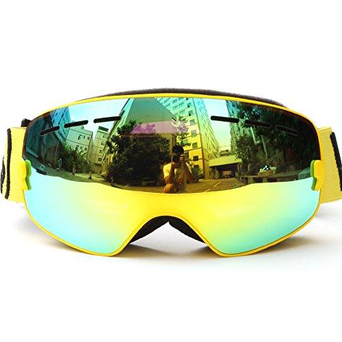 Meao Maschere da Sci con Staccabile Grandangolare Lenti Goggles Ampio Angolo di Visione Anti Fog UV 401 Protezione #4306