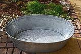 Maison-en-France Zinkwanne wasserdicht mit Griff: - - Metall verzinkt -Abmessung: Länge ca.77 - stabile Ausführung - für Haus und Garten