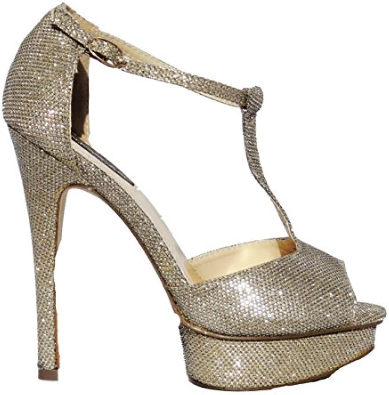 Dorothy Perkins Mujer Dorado Plataforma Tacón Alto Ocasión Zapatos Fiesta -