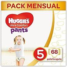 Huggies Ultra Comfort Pañal Braguita Talla 5 (12-17 kg) - 68 pañales