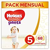 Huggies Ultra Comfort Pañal Braguita Talla 5 (12-17 kg) - 68 pañales braguita