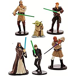 Official Disney Star Wars 6 Jedi Figurine Playset