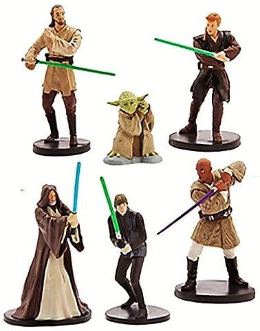 Ensemble de Figurines Officielles Disney Star Wars 6 Jedi