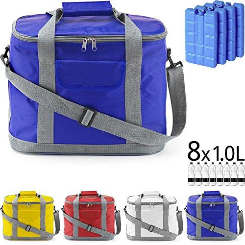 Kühltasche MARBELLA 20 Liter (= 36 Dosen) für Picknick, Grillen, Wandern, Ausflüge, Urlaub (Cobaltblau)