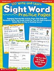 100 Write-And-Learn Sight Word Practice Pages: Engaging Reproducible Activity Pages That Help Kids Recognize,