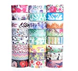 24 x Decorative Washi Masking Tape Set for DIY Crafts,Scrapbook,Decorating Christmas Party