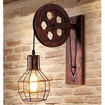 Home uk r tro industrielle fer applique murale - Lampe murale industrielle ...