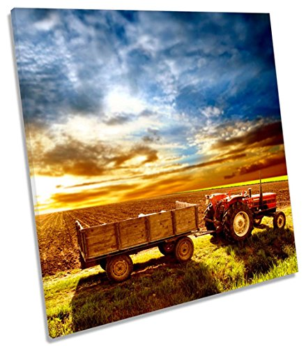Geek-ernte (Traktor Bauern Field Ernte auf Leinwand, quadratisch Wand Kunstdruck Bild, 75cm wide x 75cm high)