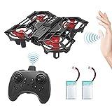 HOMMINI RC Drone, Mini Drone con retención de altitud y Modo sin Cabeza 2.4G 4CH, Giroscopio de 6 Ejes, helicoptero Quadrotor con Volteretas 3D y botón de Vuelo, botón de ejecución, Dos Baterías