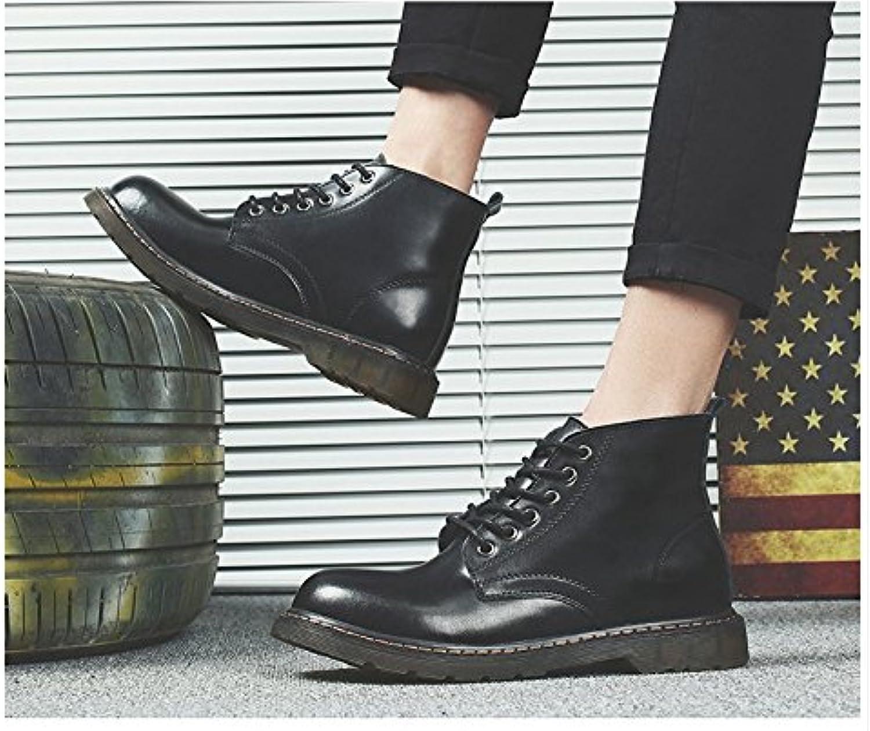 HL PYL   Martin Stiefel hohe Stiefel für Retro Casual Stiefel in Rutschfeste Verschleiß neuer Helfer  39  Schwarz