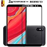 AE(TM) XIAOMI REDMI Y2 Screen Protector (5D Glass),Curved Edge 5D Full Screen Tempered Glass Edge Premium Series with high Quality Real Tempered Glass Screen Protector Black