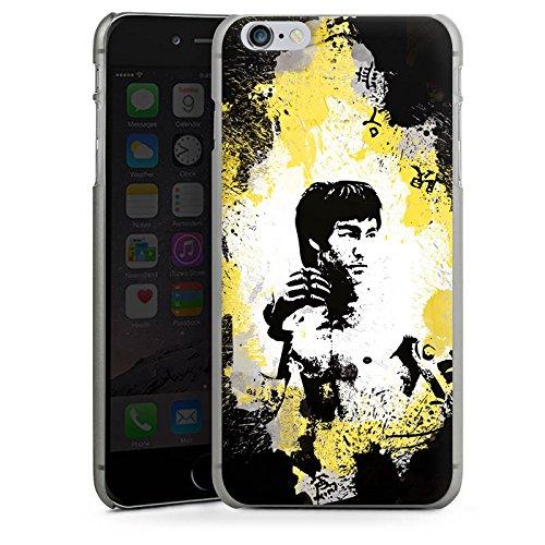 Apple iPhone X Silikon Hülle Case Schutzhülle Bruce Lee Kungfu Karate Hard Case anthrazit-klar